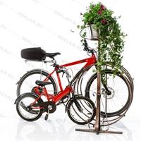 велопарковка с кашпо
