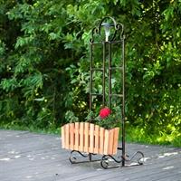 декоративное ограждение с ящиком для цветов