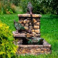 фонтан под камень с уткой