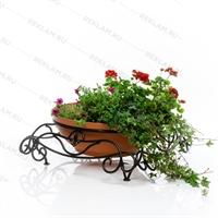 кованый уличный цветочный вазон