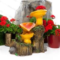 оформление садового фонтана