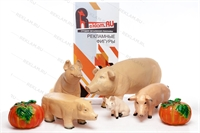 объемные фигуры год свиньи