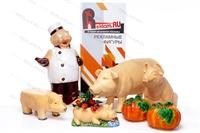 ростовые рекламные фигуры свинок