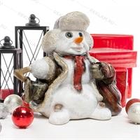 новогодняя фигура снеговика
