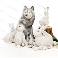 объемная фигура кролика