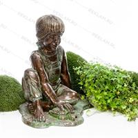 объемная фигура мальчик с черепахой