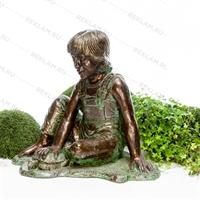 рекламная фигура под бронзу мальчик с черепахой