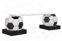 парковая лавочка футбольные мячи