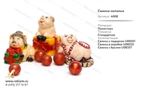 Коллекция объемных фигур Свинки-копилки - фото 15756