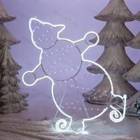 снеговик светится