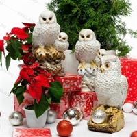 снежные фигуры сова