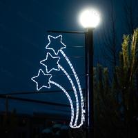 световые консоли на опорах освещения
