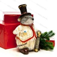"""Новогодняя фигура """"Крыса"""" 40 см полистоун - фото 18173"""