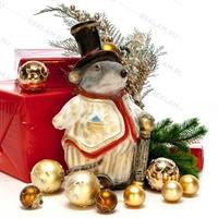"""Новогодняя фигура """"Крыса"""" 40 см полистоун - фото 18174"""