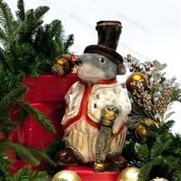 """Новогодняя фигура """"Крыса"""" 40 см полистоун - фото 18175"""