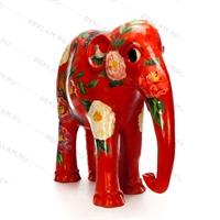 """Рекламная фигура слоник """"Орнамент цветы"""", фибергласс, 153 см. - фото 18330"""
