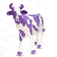 "Ростовая фигура корова ""Milka"", пластик, 155 x 215 см. - фото 18443"