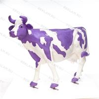 "Ростовая фигура корова ""Milka"", пластик, 155 x 215 см. - фото 18444"
