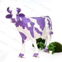 "Ростовая фигура корова ""Milka"", пластик, 155 x 215 см. - фото 18447"