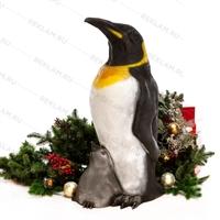 Пингвин с пингвинёнком - фото 18658