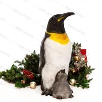 Пингвин с пингвинёнком - фото 18659