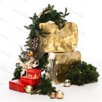 Фигура Кусок сыра, покраска под золото, пластик, 47 см. - фото 18829