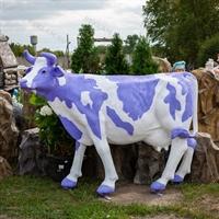 "Ростовая фигура корова ""Milka"", пластик, 155 x 215 см. - фото 20166"