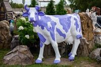 "Ростовая фигура корова ""Milka"", пластик, 155 x 215 см. - фото 20168"