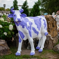 "Ростовая фигура корова ""Milka"", пластик, 155 x 215 см. - фото 20169"