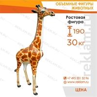 Рекламная фигура Жираф большой, стеклопластик, 190 см. - фото 22769