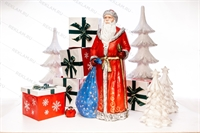 Новогодний комплект фигур Дед Мороз с подарками