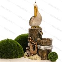 рекламная фигура пеликан на кнехте