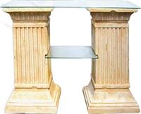 Стол две колонны с 2-полками - фото 4694