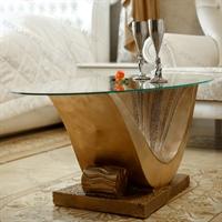 Стеклянный стол Волна