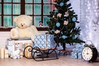 Декоративные сани подставка под елку