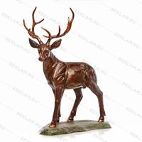 Фигура олень под бронзу - фото 7364