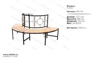 скамейка со спинкой луиза 891-94