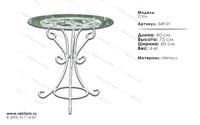 стол из стекла для кафе 349-01