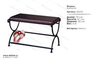интерьерная кованая мебель банкетка 303-02