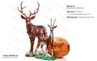 комплект ростовых фигур для ландшафтного дизайна из стеклопластика P1015