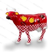 ростовая фигура коровы из стеклопластика