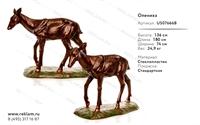 Рекламная парковая скульптура олениха под бронзу  US07666