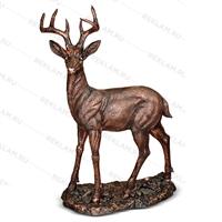 бронзовая скульптура оленя купить