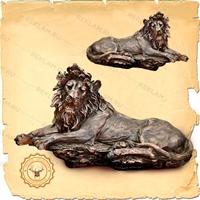 парковая фигура льва под бронзу от производителя