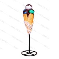 рекламный стоппер мороженое из стеклопластика