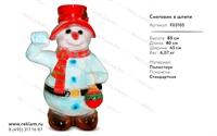 новогодняя фигура снеговик в шляпе F03105