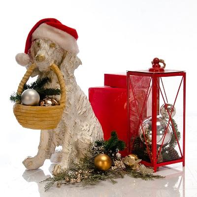 новогодняя фигура собака спаниель